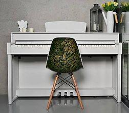 Nábytok - Stolička ELIAS zlaté lístky v zelenej - 8584752_