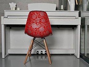 Nábytok - Stolička ELIAS Silver on red - 8585334_