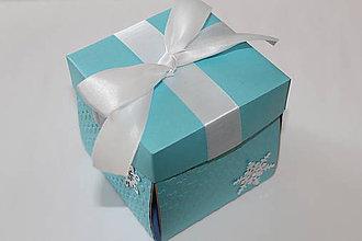 Krabičky - Vianočné exploding boxy (Modré) - 8585744_