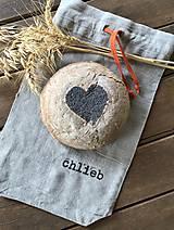 Úžitkový textil - Ľanové vrecko na chlieb - 8585398_
