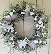 Dekorácie - vianočný veniec - 8585993_