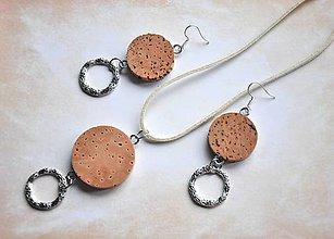 Sady šperkov - korkovostrieborné - set - 8584579_