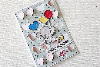 Papiernictvo - Pohľadnica so sloníkom - 8584288_