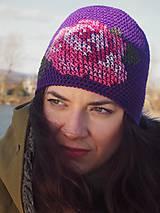 Čiapky - Ruženka fialová - 8586011_