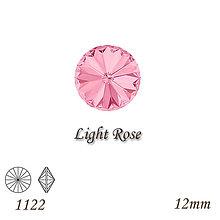 Korálky - SWAROVSKI® ELEMENTS 1122 Rivoli - Light Rose, 12mm, bal.1ks - 8586089_