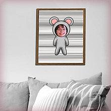 Grafika - Zvierací kostým - myš v pruhoch (grafika) - 8584688_