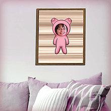 Grafika - Zvierací kostým - prasiatko v pruhoch (grafika) - 8584896_