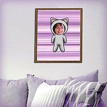 Grafika - Zvierací kostým - mačka v pruhoch (grafika) - 8585033_