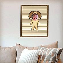 Detské doplnky - Zvierací kostým - pes v pruhoch (grafika) - 8585163_