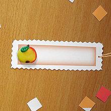 Papiernictvo - Ozdobné menovky na darček  (jablko) - 8586329_
