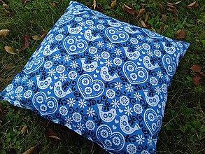 Úžitkový textil - Obliečka na vankuš Folk motív - 8587660_
