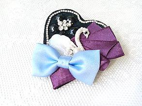 Odznaky/Brošne - Swan in love (brooch) - 8588243_
