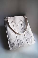 Kabelky - Háčkovaná kabelka | Taška | Béžová svetlá | MAXI - 8590253_