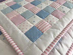 Úžitkový textil - ružovomodrá kombinácia - 8587875_