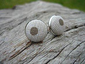 Náušnice - Náušnice Buttonky Elegant Dots - 8588267_