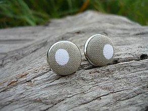 Náušnice - Náušnice Buttonky Elegant Dots - 8588296_