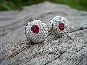 Náušnice - Náušnice Buttonky Elegant Dots - 8588329_