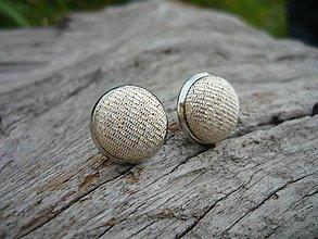 Náušnice - Náušnice Buttonky Zlaté - 8588781_