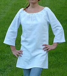 Košele - Ľanová košeľa biela - 8587566_