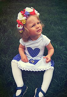 Detské oblečenie - modrá Evička - set menší - 8587897_