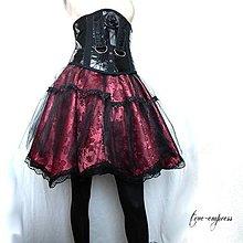 Sukne - Gotická brokátová spoločenská sukňa - 8590171_