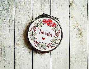 Darčeky pre svadobčanov - Svadobné zrkadielko - 8590086_