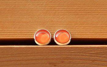 """Náušnice - Maľované náušnice """"Jednofarebky"""" 10mm (oranžové) - 8586974_"""