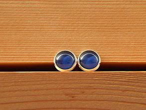 """Náušnice - Maľované náušnice """"Jednofarebky"""" 10mm (tmavomodré) - 8586999_"""
