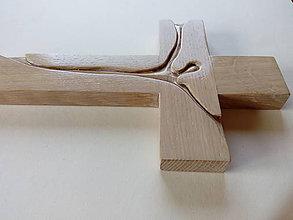 Socha - Krízik svadobný bielený - 8587740_