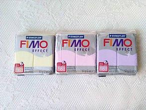 Modelovacie hmoty - Fimo Effect (vanilka/ruža/lila) - 8589150_