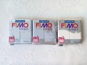Modelovacie hmoty - Fimo Effect (voda/strieborná/perleťová) - 8589254_