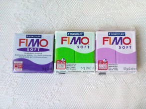 Modelovacie hmoty - Fimo Soft (tmavofialová/zelená/svetlofialová) - 8589275_