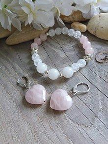 Sady šperkov - Sada-ruženín,jadeit,krištál - 8590446_