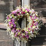 - Jesenný prírodný veniec na dvere - 8590456_