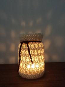 Svietidlá a sviečky - Béžové šatôčky s hnedou mašľou - 8587243_