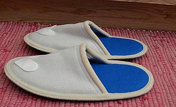Obuv - White heart- slippers - 8588808_