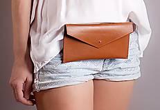 Peňaženky - KOŽENÁ PEŇAŽENKA belt bag one 2017 (brown) - 8589713_