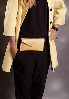 Peňaženky - KOŽENÁ PEŇAŽENKA belt bag yellow one 2017 - 8589359_
