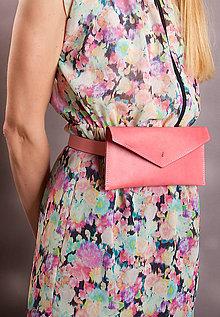 Peňaženky - KOŽENÁ PEŇAŽENKA belt bag pink one 2017 - 8589777_