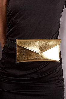 Peňaženky - KOŽENÁ PEŇAŽENKA belt bag gold one 2017 - 8589875_
