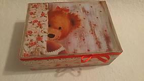 Krabičky - Krabička - medvedík dievčatko - 8589796_