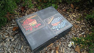Krabičky - Čierna čajová krabica - 8587639_