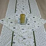 - Zeleno zlaté hviezdy s ornamentami - obrus štvorec(2) 40x40 - 8587512_