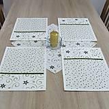 - Zeleno zlaté hviezdy s ornamentami - prestieranie(2) 25x35 - 8587587_