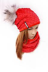 zimný set s odopínacím brmbolcom Red &red...alebo farbu si vyber!