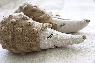 Hračky - ježko jesenný - ľanová hračka - 8586775_