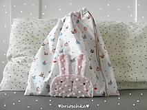 Detské tašky - vrecúško so zajkom - 8587626_