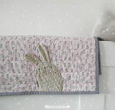 Textil - deka ružová so zajkom - 8587430_