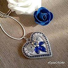 Náhrdelníky - Srdiečko ľúbezné náhrdelník - 8588301_
