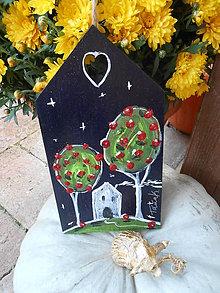 Dekorácie - Domček v jabloňovom sade - 8588847_